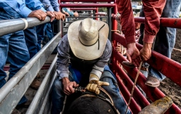Scenes from the second day of the 45th Annual Corn Palace Stampede Rodeo at Horseman's Sports Arena on Friday in Mitchell. (Matt Gade/Republic)