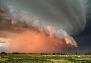 A thunderstorm makes its way through the Mitchell area on Saturday night. (Matt Gade/Republic)