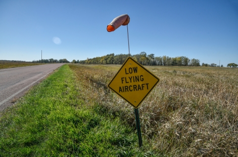 MJ Aviation has its own personal airstrip that runs just short of 241st Street into Letcher. (Matt Gade/Republic)
