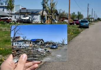 On Tuesday, May 10 it will be one year since a tornado came through and hit the west end of the town of Delmont. The damage from the tornado caused damage to many homes and left debris across town. While some homes have been rebuilt, completely replaced and some are still having work done, others have been completely removed and lots sit empty. On Tuesday the residents of the town will be holding several activities to mark the one year anniversary of the tornado. (Date shot: May 5, 2016)
