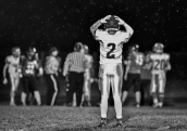 Bon Homme's Tim Hajek (2) reacts as the Cavaliers fumble the ball into the end zone and is recovered by Mount Vernon/Plankinton during their class 9AA first round game on Tuesday, Oct. 25 in Mount Vernon.