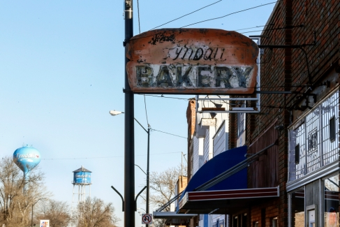 Carol and Ed Radack bought the Tyndall Bakery in May of 2007 and the store itself has been a landmark in the small town of Tyndall since at least 1917 with some reports of possibly dating back as far 1903.