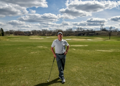 Todd Kolb stands for a portrait in front of the driving range outside the Todd Kolb Golf Academy at Willow Run Golf Course on Tuesday afternoon.