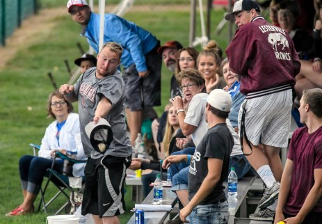 Chris Sutera, of Tabor, catches a foul ball with his cap during game between 4 Corners and the Castlewood Monarchs during the South Dakota State Amateur Baseball Tournament on Sunday at Cadwell Park.